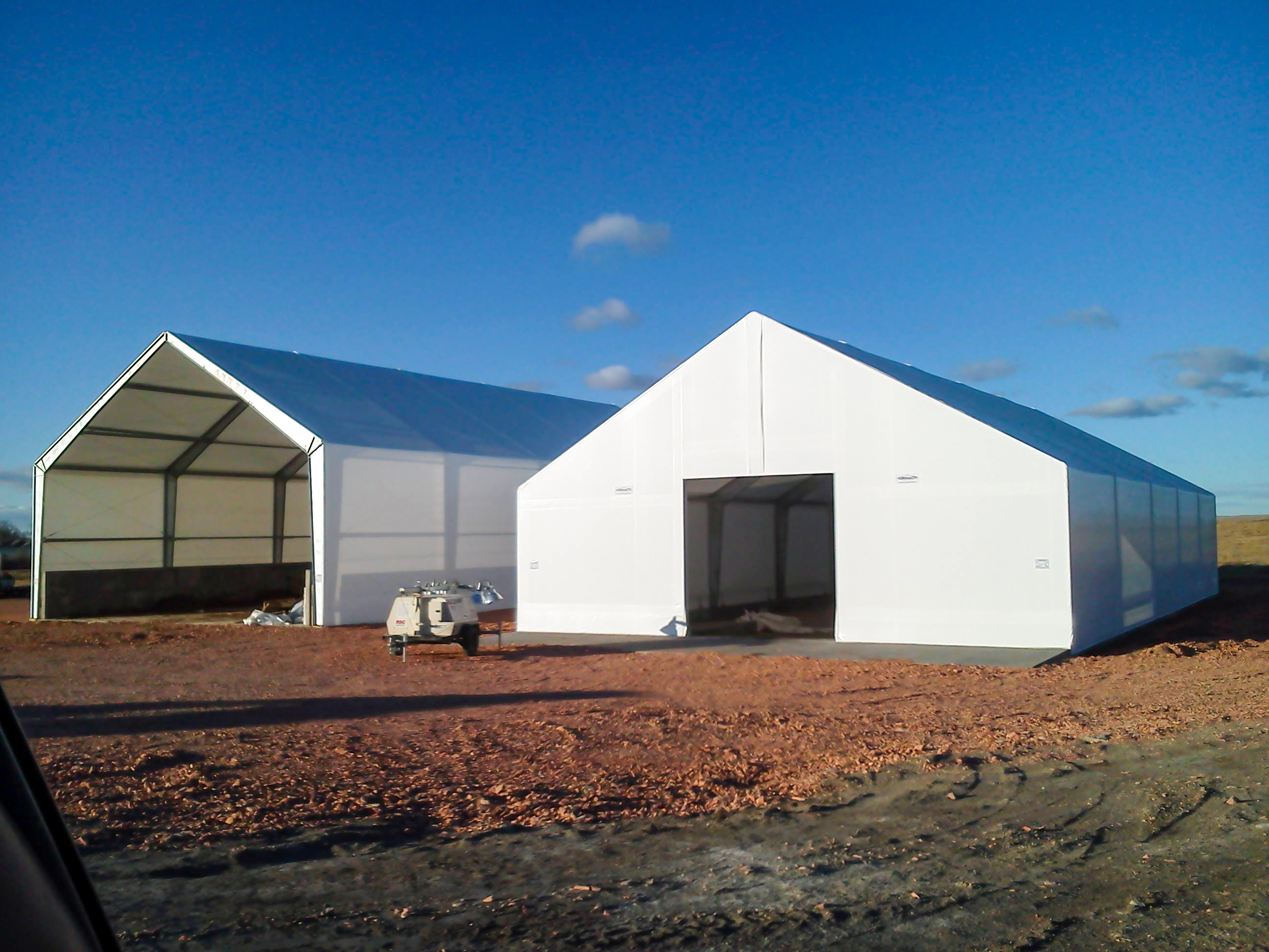 two fabric energy buildings
