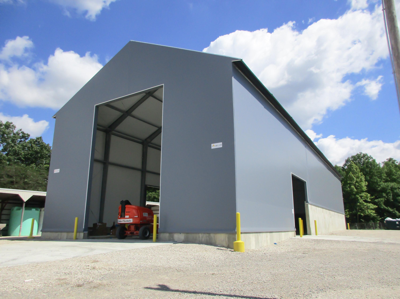 fabric salt storage building