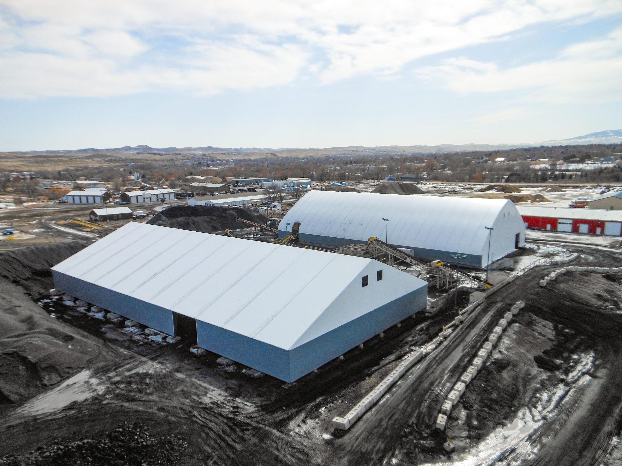 fabric coal storage building