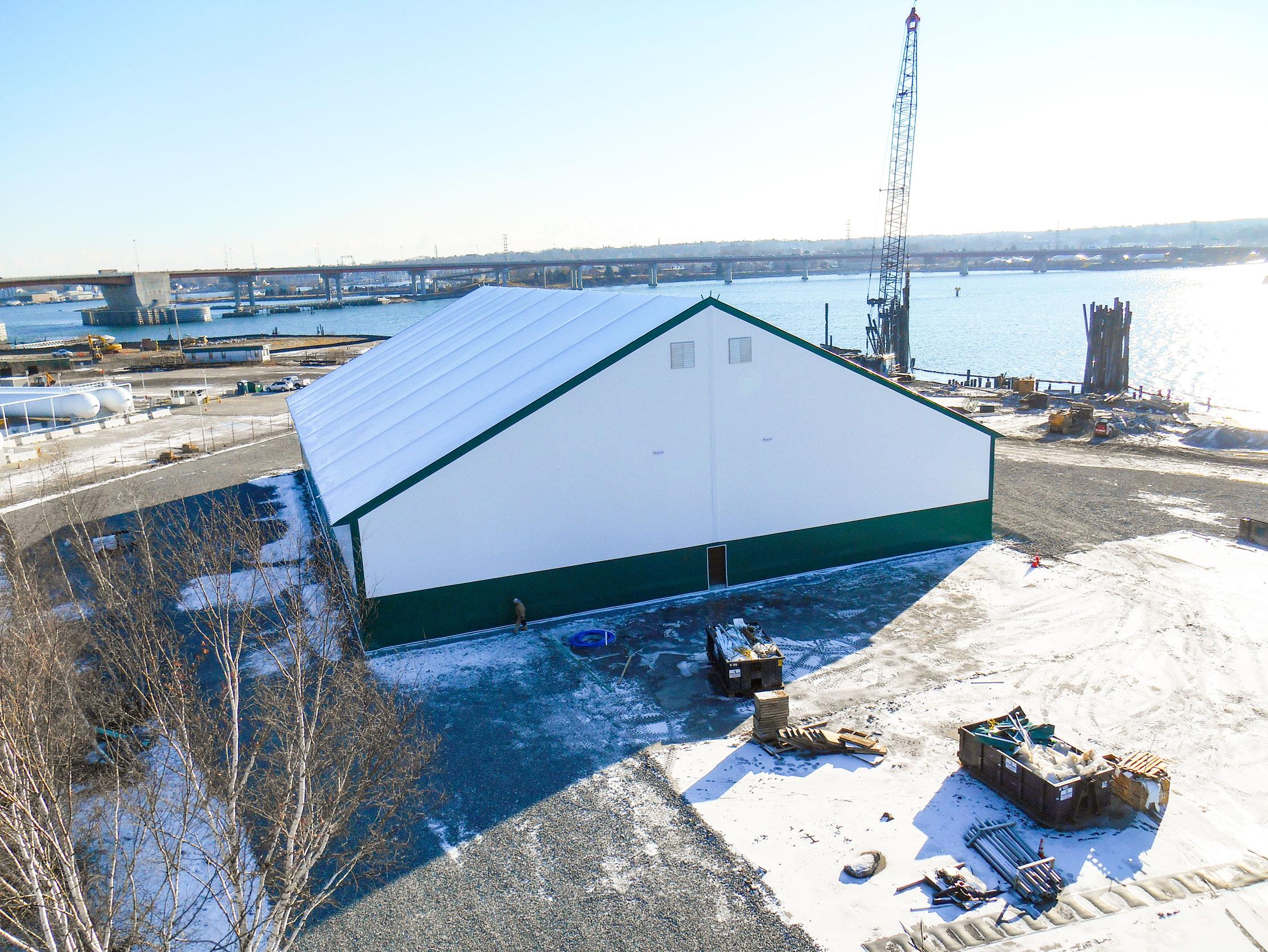 fabric yacht storage building
