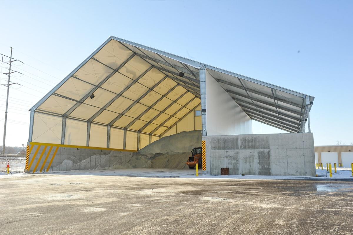 DOT salt storage structure
