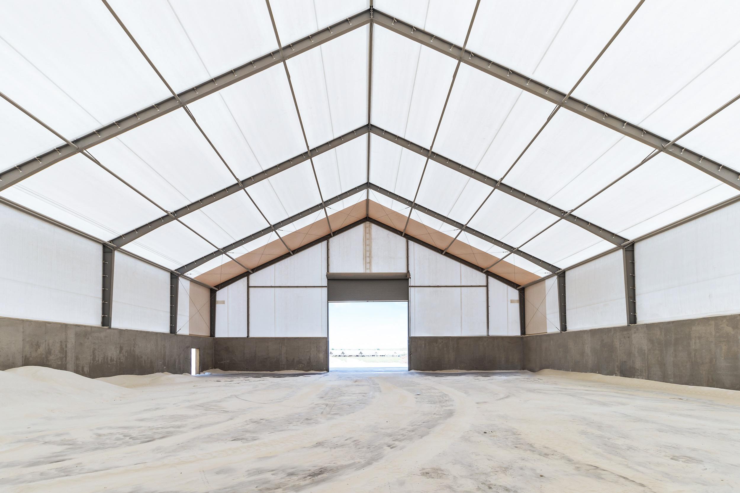 fabric frac sand storage