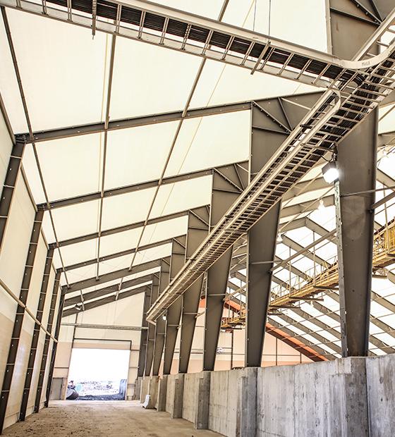 fabric frac sand building